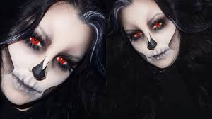 ghost skull halloween makeup tutorial youtube