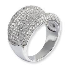 silver diamonds rings images 925 sterling silver cz indented cluster ring sterling silver jpg