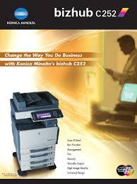konica minolta bizhub c252 folheto image scanner fax
