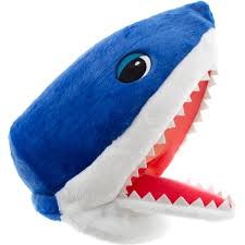 shark maskimal adorable large plush head mask accessory walmart com