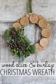 Home Decor With Burlap Wood Slice U0026 Burlap Christmas Wreath Finding Home Farms