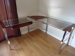 office depot l shaped glass desk office depot glass desk protector wallowaoregon com modern