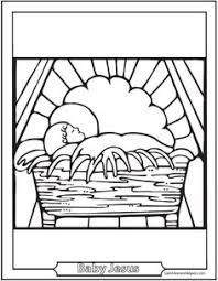 christmas jesus manger animals coloring pages christmas