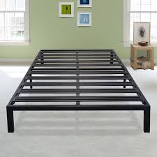 Platform Metal Bed Frame Latitude Run Branson Black Metal Platform Bed Frame Reviews