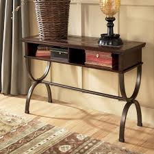 Sofa Console Tables by Sofa Console Table With Slate Inlay And Metal Base By Signature