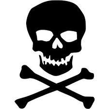 amazon com pirate jolly roger crossbones skull vinyl decal sticker