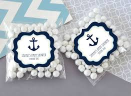 nautical gift bags nautical baby shower clear candy bags set of 24