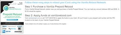reload prepaid card with checking account vanilla reloadables frequent miler