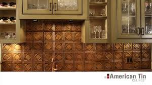 Copper Tiles For Kitchen Backsplash Tin Tile Backsplashes Overview American Tin Ceilings Youtube