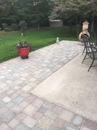 How Thick For Concrete Patio Extending Concrete Patio With Pavers Home Pinterest Concrete