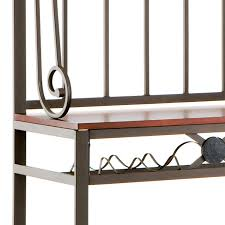 furniture interesting decor tall metal bakers rack with wine