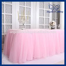 Pink Table Skirt by Sk005h New Arrival 2015 Beautiful Bridal Ruffled Wedding Pink