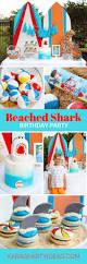 shark birthday invitations kara u0027s party ideas beached shark birthday party kara u0027s party ideas