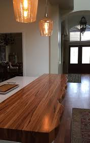 wood countertops reviews with pros and cons by grothouse clients faux live edge tigerwood countertop customer review