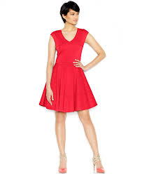 bar iii cap sleeve fit u0026 flare dress dresses women macy u0027s