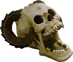 Satanic Home Decor Voodoo 2829 02 Satanic Ram Demon Devil Human Skull Menacing Evil