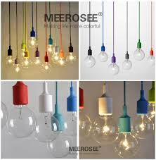 Light Bulbs For Pendant Lights Colorful E27 Socket Pendant Light Suspension Drop Lamp Modern