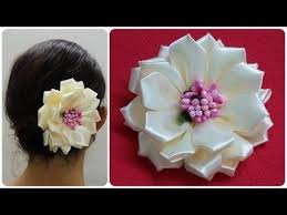 25 unique kanzashi flowers ideas on kanzashi tutorial