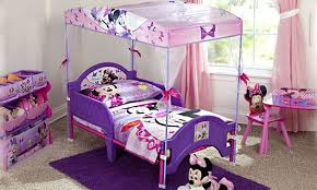 Minnie Mouse Toddler Bed With Canopy Disney Minnie Mouse Toddler Canopy Bed Groupon