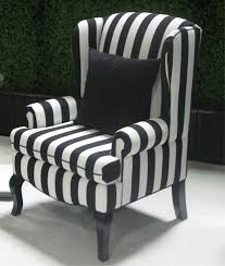 Armchairs Covers Black Wing Back Chairs Encore Black U0026 White Stripe Wing Back