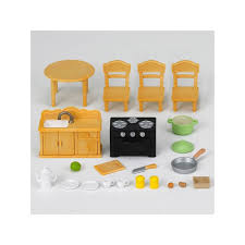 sylvanian families cuisine country kitchen set with cat sylvanian families europe