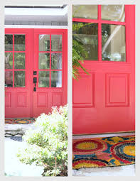 woven home pink front door valspar berry blush