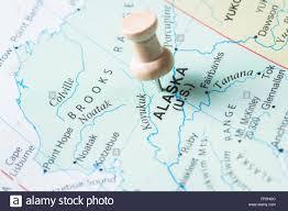 Push Pin Map Push Pin Marking Alaska On A World Map As A Destination Concept