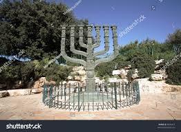 knesset menorah knessets menorah sculpture jerusalem israel stock photo 8699473