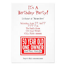free printable funny 50th birthday party invitations template
