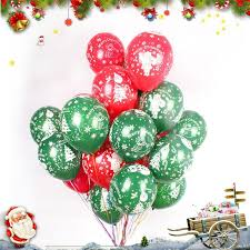 inflated balloons delivered 10 inch and green balloons christmas decorations thick