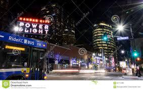 power and light restaurants kansas city night scene at the power and light district in kansas city missouri