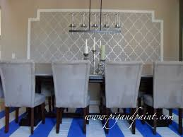 wallpaper for dining rooms pig and paint create a feature wall with framed wallpaper and