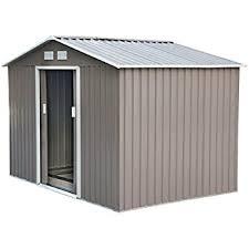 Shed Backyard Amazon Com Arrow Newburgh Nw Steel Storage Shed 10 By 8 Feet