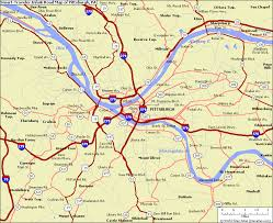 Pennsylvania smart traveler images The smart traveler s map of pittsburgh pa travel holiday map jpg
