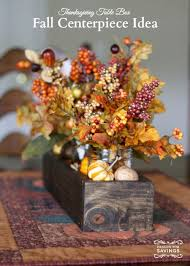 fall centerpiece ideas create a thanksgiving table box easy decor