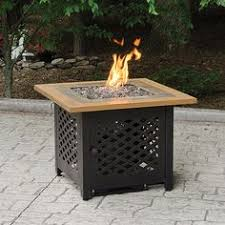 Uniflame Propane Fire Pit - lp gas outdoor firebowl with tile by blue rhino great deals