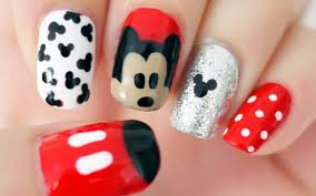 disney mickey mouse inspired nails youtube
