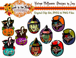 vintage halloween clip art look in the nook