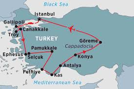 Blank Map Of Eastern Mediterranean by Treasures Of Turkey Turkey Tours Peregrine Adventures Us