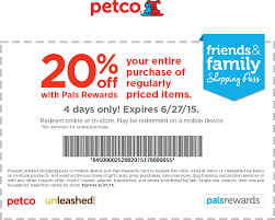 pinned june 26th 20 off at petco or 20 off 50 online via promo