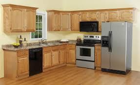 Kitchen Cabinets Kochi Hard Maple Wood Autumn Lasalle Door Light Oak Kitchen Cabinets