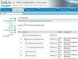 Sakai Help Desk Using Sakai At The Claremont Colleges