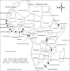 africa map answers label countries printout enchantedlearning
