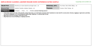 Best Places To Post Your Resume by Brush Clearing Laborer Job Title Docs