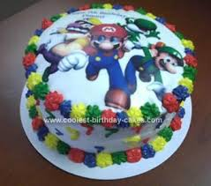 mario birthday cake coolest mario party birthday cake