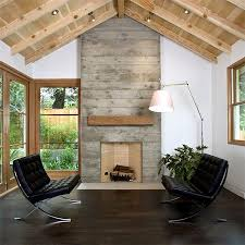 concrete fireplace surround with reclaimed wood mantel google