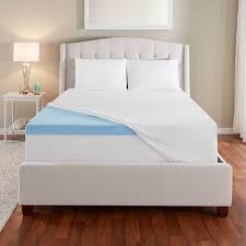 3 u201d evencor gelplus gel memory foam mattress topper with cooling