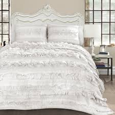 Ruffle Bed Set Bellamie 4pc Luxury Romantic Tier Ruffle Comforter Bedding Set