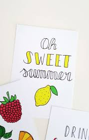 fruit by mail luloveshandmade s free fruit postcards to send colorful summer