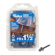 Home Depot Roof Felt by Teks 9 X 1 1 2 In Zinc Plated Steel Hex Washer Head Roofing